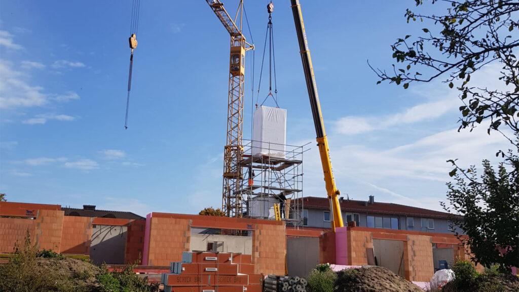 Baufortschritt Wohnanlage Freystadt, Berchinger Straße 10